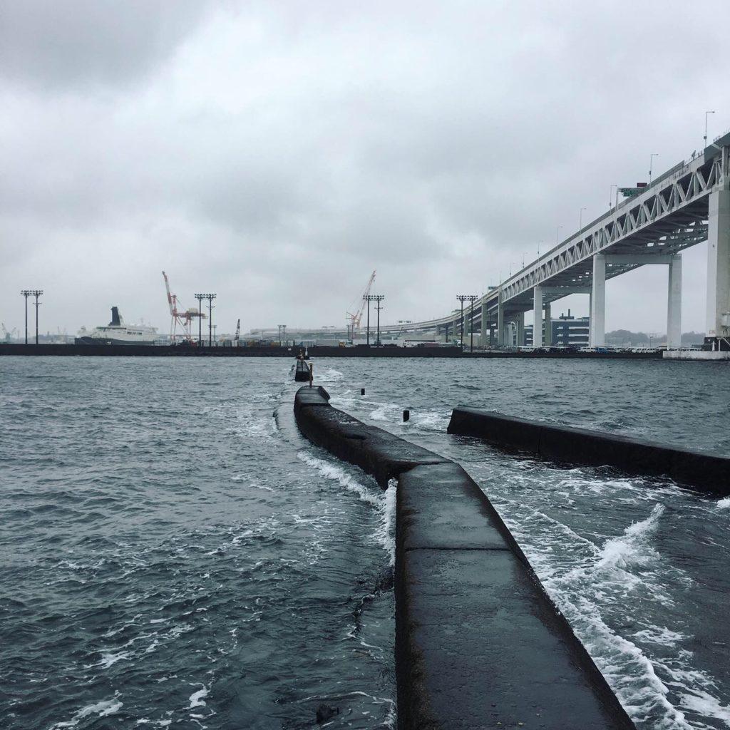 雨と北風の極寒 YOKOHAMA BAY
