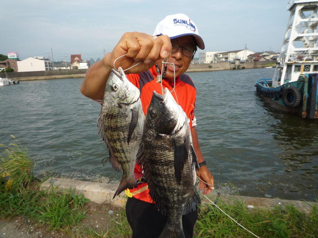 堤防のダンゴ釣り