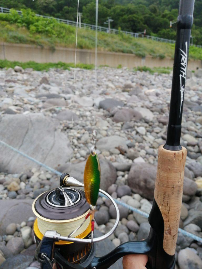 知床世界遺産でのカラフトマス釣り