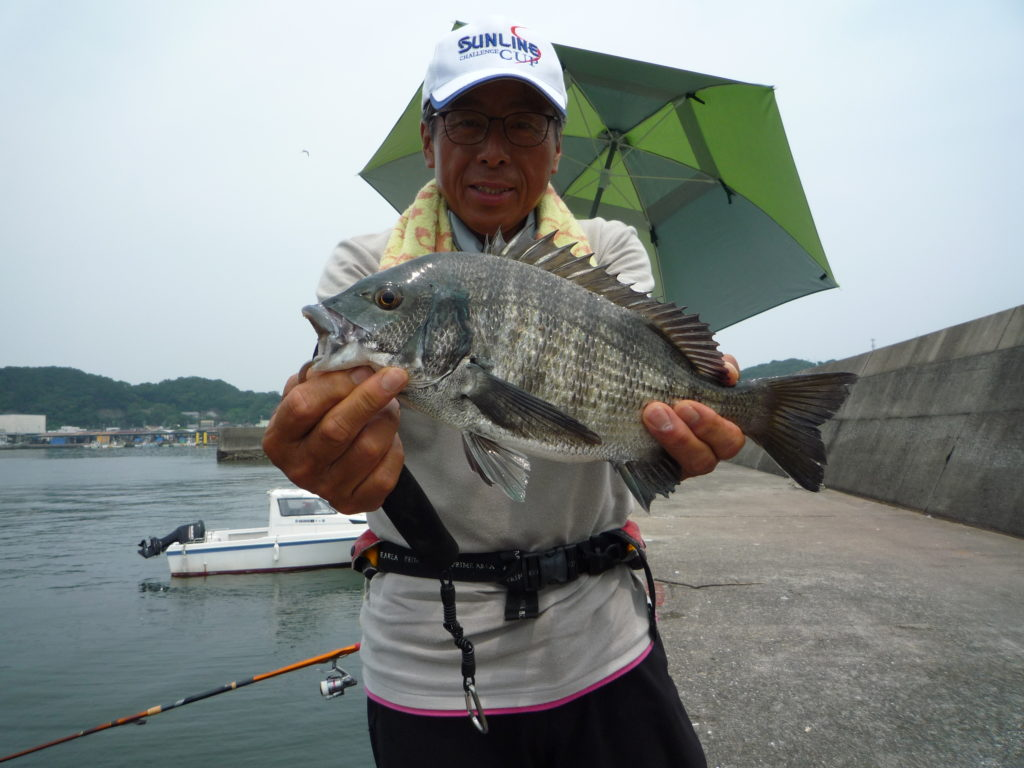 堤防からダンゴ釣り