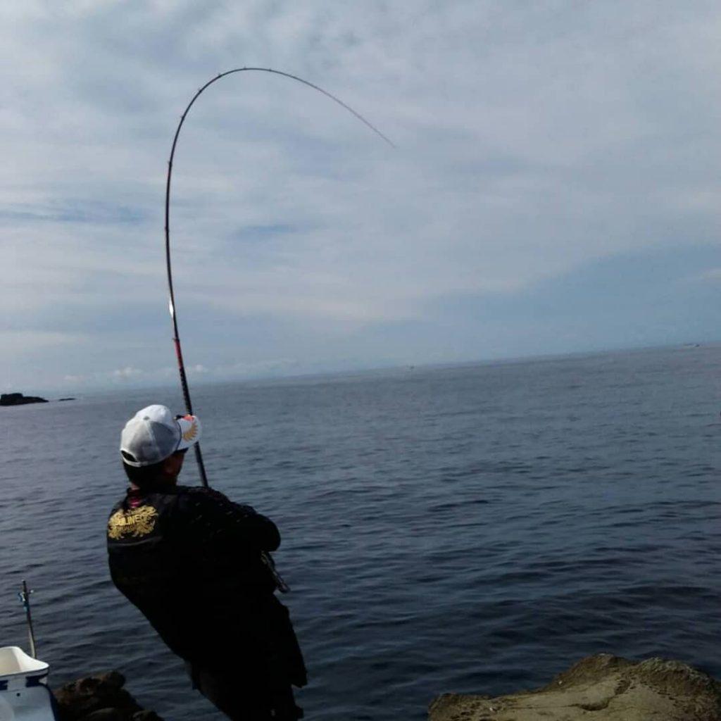 秋磯カゴ釣り