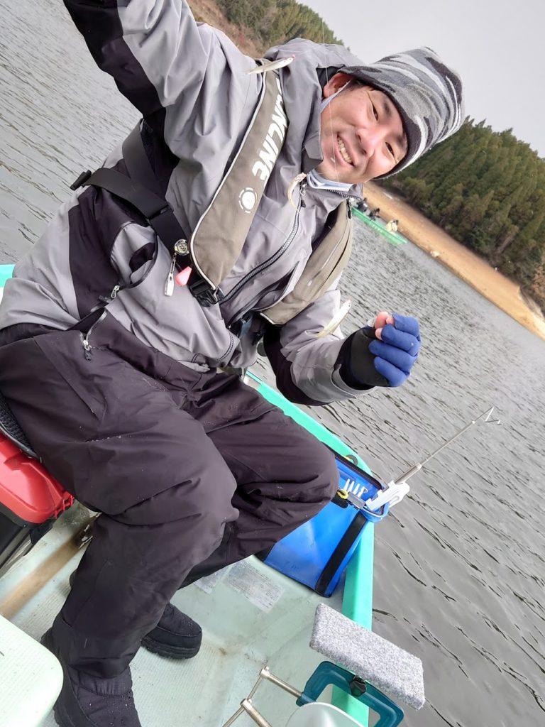 極寒の北山湖ワカサギ