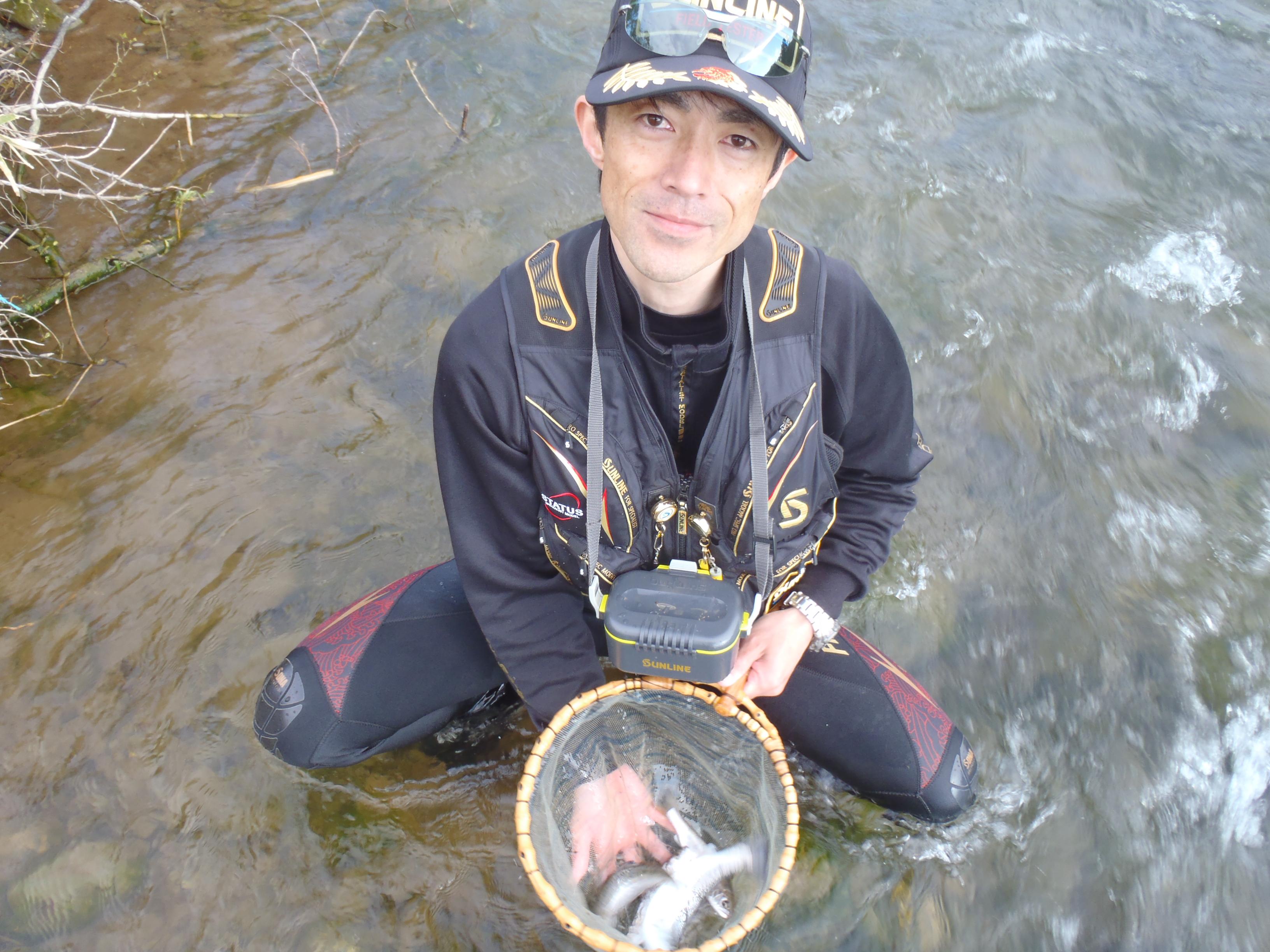 雫石川の山女魚!