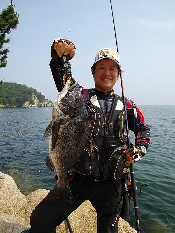 広島湾でチヌ釣り