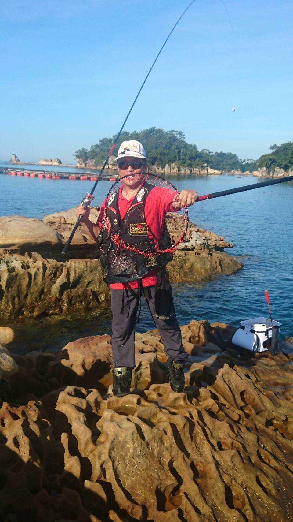 真夏のチヌ釣り