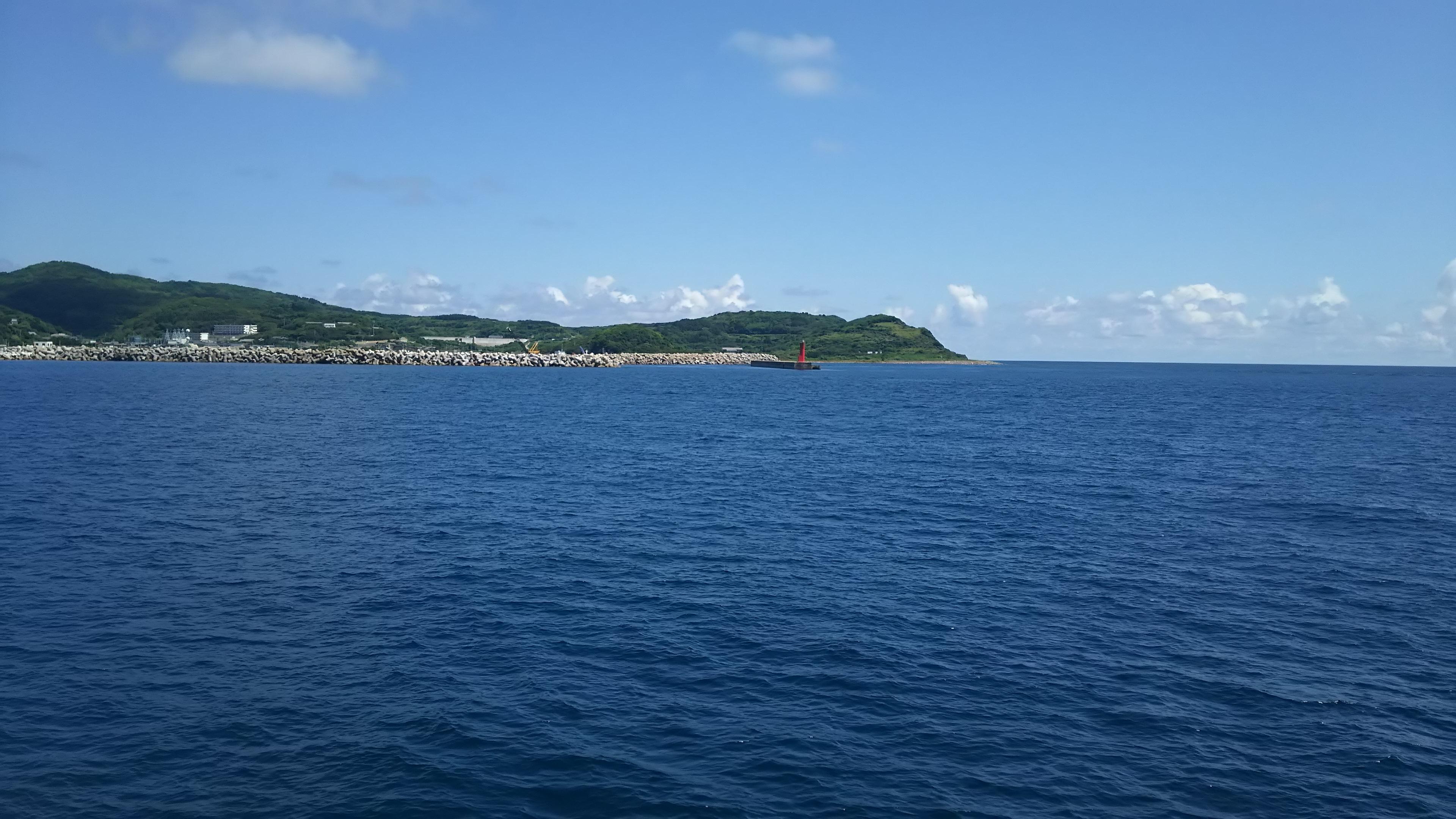 萩沖の離島、見島の梅雨グレ