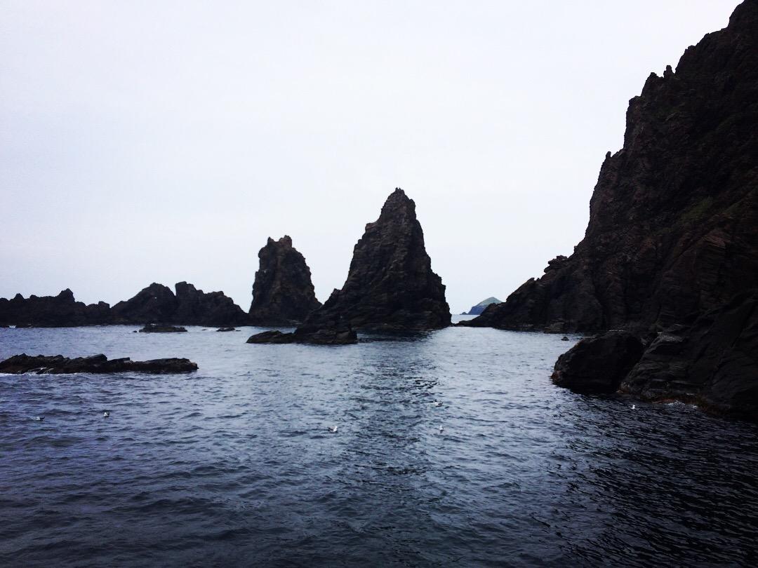 日本海佐渡 雨中のチヌ釣り