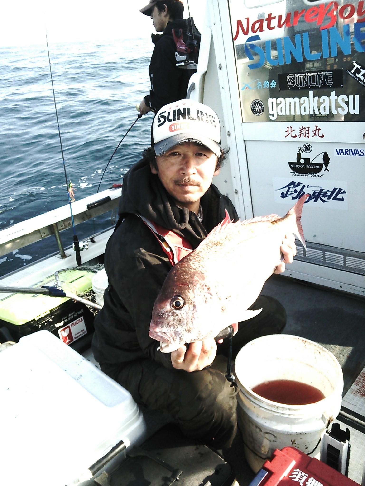 遊漁船 北翔丸にて