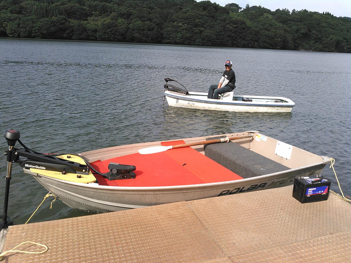 大隅湖のレンタルボート!